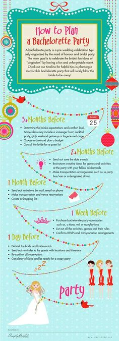 How To Plan A Bachelorette Party...missy you are 5 months out in like 2 weeks!! Ah