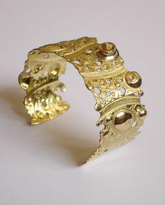 Citrine and gold Cuff - CHRISTELLE CAILLAUD -FR -CRISKAhttp://www.criska.com/