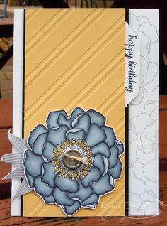 Stampin' Up! Blended Bloom, stylish stripes embossing folder, Just Add Ink 225 - Kim Badelt