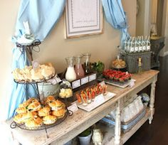 Brunch/lunch bar...this would be good to set up while getting ready