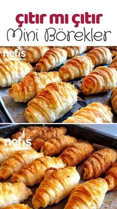 Minik Çıtır Börekler Tarifi nasıl yapılır? 608 kişinin defterindeki bu tarifin resimli anlatımı ve deneyenlerin fotoğrafları burada. Yazar: Filiz Avcı Durukal Homemade Beauty Products, Chicken Enchiladas, Pretzel Bites, Sausage, Bakery, Brunch, Health Fitness, Bread, Breakfast