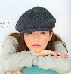 Crochet beret - charts