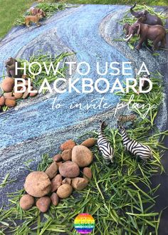 How to Create A Small World Invitation Using a Blackboard - turn your chalkboard into an inviting place for some pretend play Reggio Emilia, Montessori, Natural Playground, Playground Ideas, Indoor Playground, Outdoor Play Spaces, Small World Play, Play Centre, Outdoor Learning