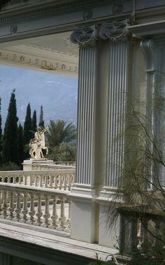Palace ACHILLEION / Corfu / Greece Places Around The World, Around The Worlds, Wonderful Places, Beautiful Places, Zorba The Greek, Santorini Villas, Myconos, Greece Fashion, Hellenistic Period