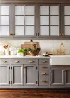Beautiful Gray Cabinets I Like The Gray Would Go With