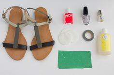 Sandales customisées
