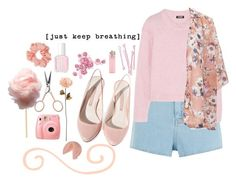 """""""A breath of fresh air"""" by fashionloverslovefashion ❤ liked on Polyvore featuring BOBBY, Zara, Warehouse, DKNY, Shabby Chic, Fujifilm, Anastasia Beverly Hills, Pull&Bear, Essie and Miss Selfridge"""