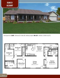 Could work remove staircase and wall between kitchen and living room Ranch House Plans, New House Plans, Dream House Plans, Small House Plans, House Floor Plans, My Dream Home, Modular Floor Plans, Metal Building Homes, Building A House