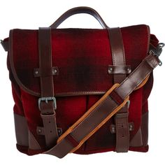 Woolrich John Rich & Bros. Plaid Saddle Bag