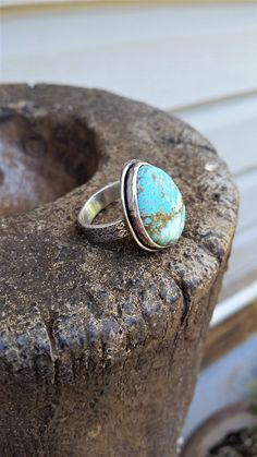 CUSTOM ORDER FOR L   #8 Turquoise Ring by CatsCreationsLLC on Etsy