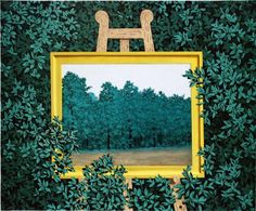 COMMUNITY ARTISTICA CULTURALE Google+ Allegato: RENE' MAGRITTE  Artista Pittore Surrealista René Magritte  Foto-Dipinto. : The waterfall, 1961