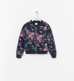 Image 1 of PRINTED CARDIGAN WITH ZIP from Zara