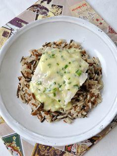 Pavé de lieu noir, sauce au beurre blanc & ciboulette