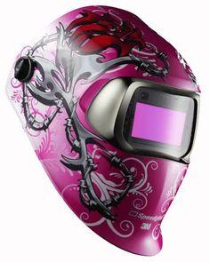 3M Speedglas 100V Auto Darkening Wild n Pink Welding Helmet