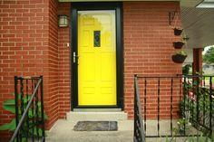 best front door color for red brick house | Door Designs Plans