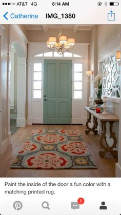Foyer inspiration. Different colors.