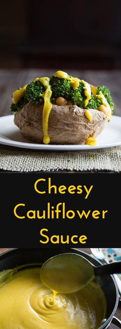 Use this light, cauliflower-based sauce wherever you'd use butter or cheese sauce. Vegan, gluten-free, no-oil. Only 28 calories per serving.