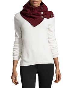 Cable-Knit Neck Warmer, Scarlet by Neiman Marcus at Neiman Marcus Last Call.