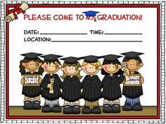 FREE 4 different-styled graduation invitations to use to invite your students' parents to graduation.....super cute! Parent will save them for years to come!