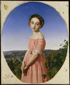 Faustine Léo (1832–1865)  Henri Lehmann (French, Kiel 1814–1882 Paris)  Date: 1842