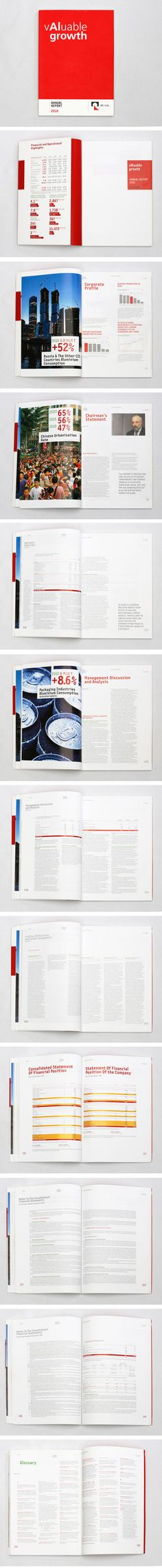 RUSAL 2010 annual report by Mike Loskov, via Behance