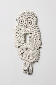 Hoot, Hoot Switchplate, Single - Anthropologie.com. For bedroom light. #pintowin #anthropologie