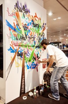 A arte urbana também fez parte do nosso dia!