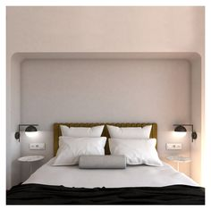 The color palette is being developed on mild shade. Unique Headboards, Apartment Renovation, Palette, Contemporary, Living Room, Interior Design, Architecture, Bedroom, Color