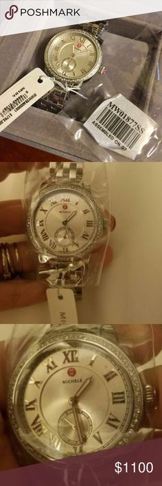 NWT and Box Michele Diamond Harbor Watch Beautiful watch, brand new with tags. Feel free to contact me with any questions or offers- thanks!!! Michele Accessories Watches