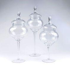 Clear Glass Optic Jar, Set of 3 @ Kirklands