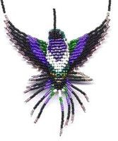 beading pattern for hummingbird | You can now make your own 3-D Beaded Costa's Hummingbird!