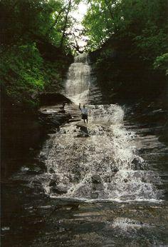 Hidden Waterfall on Cayuga Lake, Upstate New York