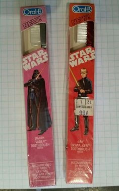 Lot of 2 luke skywalker/darth vader Oral B Vintage Tooth Brush Star Wars New in Collectibles, Science Fiction & Horror, Star Wars | eBay