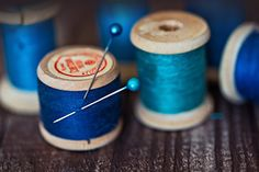 threads in blue color