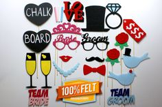 PhotoBooth Props  21 Piece Wedding Photo Booth by PhotoBoothProp, $45.00
