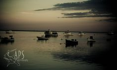 Boats at sunset by Alan Scherer on 500px