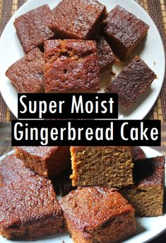 Vegan Ginger Cake: a delicious egg-free and dairy-free healthy ginger cake recipe perfect for a plant-based diet. Try baking this loaf cake today! Kraft Recipes, Easy Cake Recipes, Cupcake Recipes, Baking Recipes, Cookie Recipes, Dessert Recipes, Desserts, Gluten Free Gingerbread, Gingerbread Cake