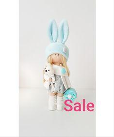 Bunny Handmade soft fabric christmas doll toys rag doll Textile interior doll blonde birthday gift home decor doll with Bunny doll gift Special Girl, Handmade Items, Handmade Gifts, Black Decor, Fabric Dolls, Girl Gifts, Doll Toys, Soft Fabrics, Black Friday