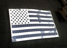 Standard nylon reflective Multicam alpine  Us USA Flag Velcro Patch 3.5x2