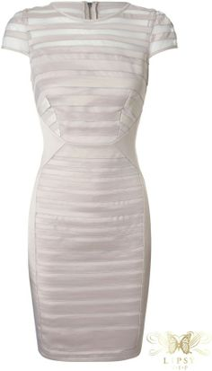 Lipsy VIP Satin Stripe Shift Dress on shopstyle.co.uk