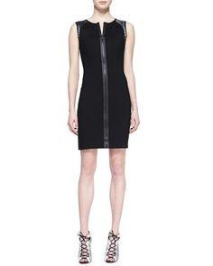 Lexington+Leather-Weave+Dress+by+Elie+Tahari+at+Bergdorf+Goodman.