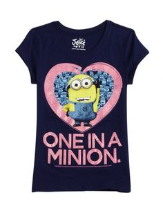 One In A Minion Graphic Tee | Girls Graphic Tees Clothes | Shop Justice