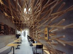 Starbucks Interior by Kengo Kuma