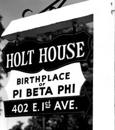 On April 28th, 1867, Pi Beta Phi was founded at Holt House at Monmouth College in Monmouth, Illinois.
