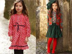 Girls in red by Oscar de la Renta Kids