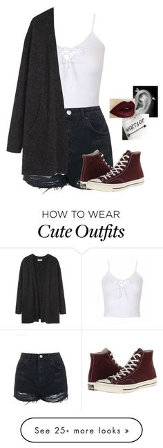 """""""Outfit of the day"""" by haileypariswatson on Polyvore featuring Topshop, Acne Studios and Converse"""