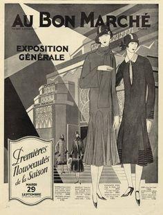 au bon marche-1925 fashion - French Exposition