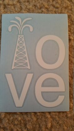 Oilfield LOVE Decal/Oilfield Wife/Oil Derrick/Offshore by BluLoveCreations on…