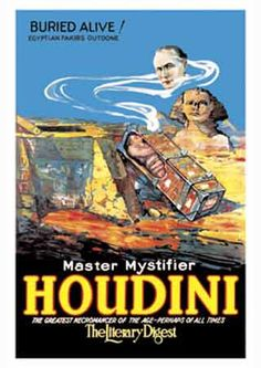 Harry Houdini - Master Mystifier, Greatest Necromancer  http://postermania.com.mx/product_info.php?products_id=2163