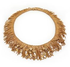 A Gold and Diamond Fringe Necklace. Via FD Gallery, www.fd-inspired.com
